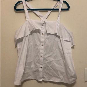 Brand new Michael kors white cross strap blouse